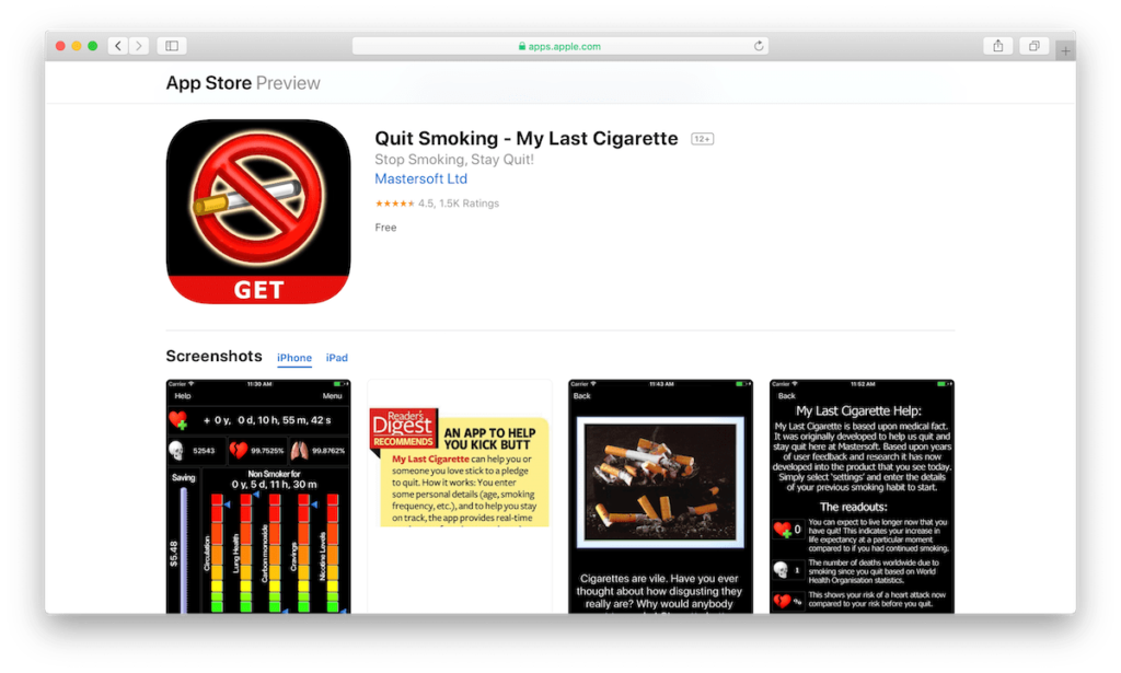 Quit Smoking - My Last Cigarette app