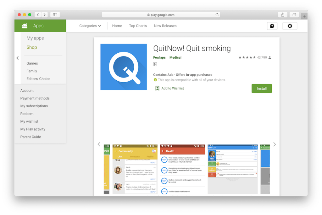 QuitNow! Quit smoking App