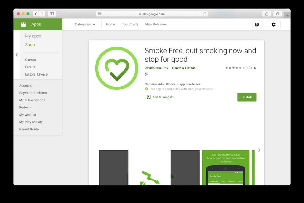 Smoke Free app
